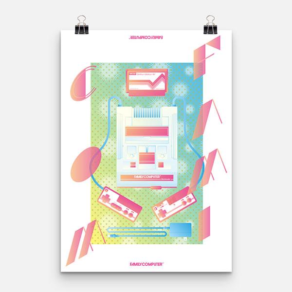 ファミコンポスターデザイン