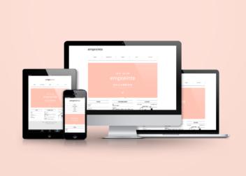 美容室empreinte webサイトデザイン