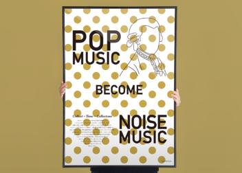 ミュージックポスターデザイン