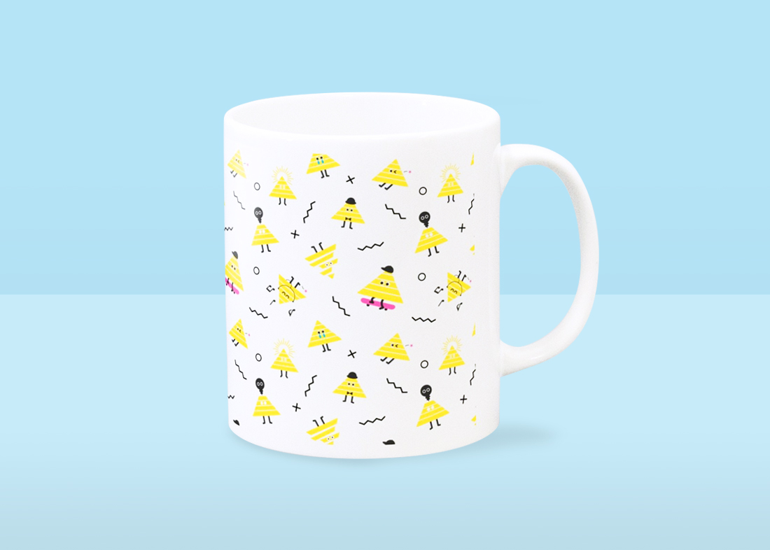 さんかくさんマグカップデザイン